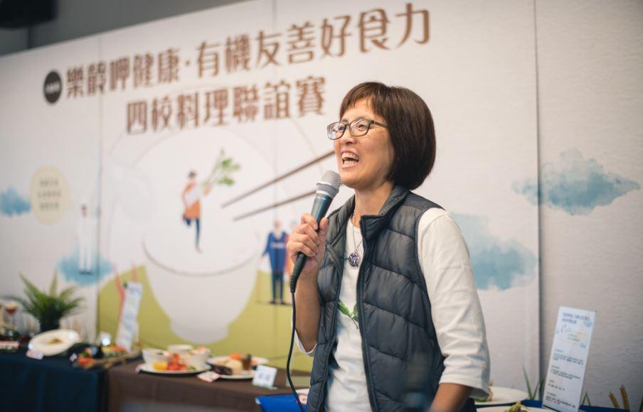 苗栗青新友善合作社發起人陳淑慧積極推廣食農教育給未來的掌廚者。