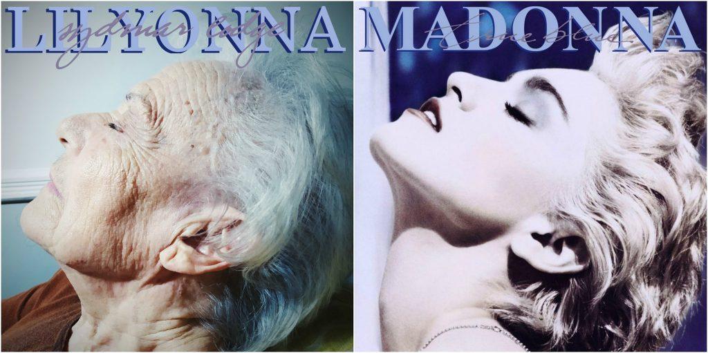 Sydmar Lodge Care Home長者模仿瑪丹娜專輯封面