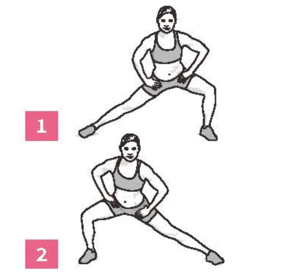 50組在家徒手健身腹腿臀計畫_動態側蹲