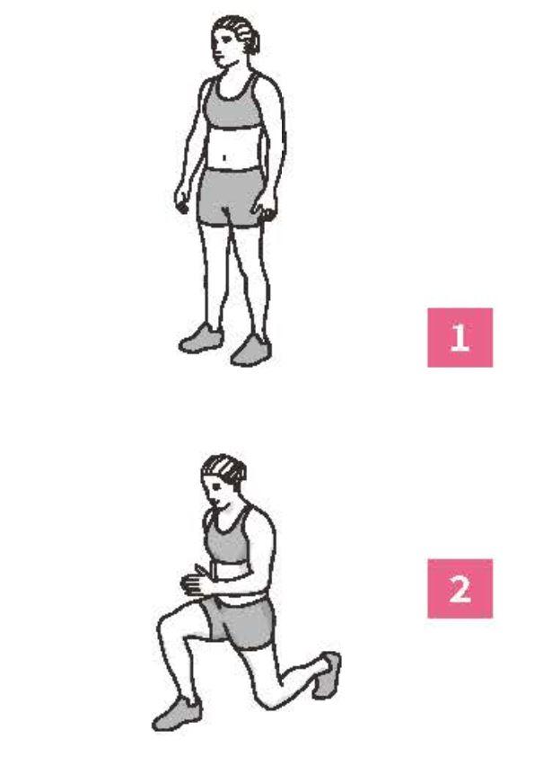 50組在家徒手健身腹腿臀計畫_弓步蹲