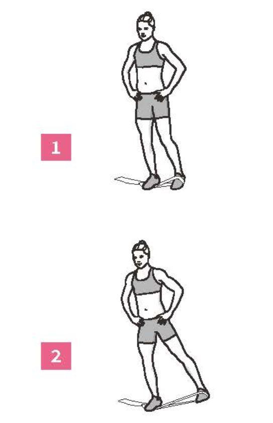 50組在家徒手健身腹腿臀計畫_彈力帶腿外展