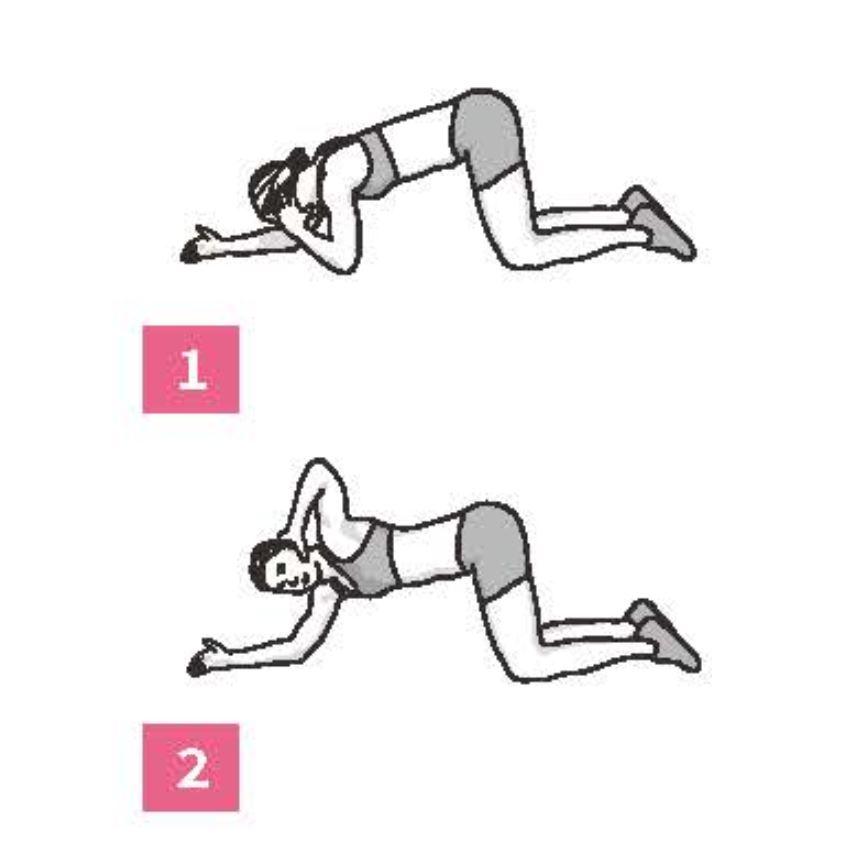 50組在家徒手健身腹腿臀計畫_胸椎肩膀放鬆術