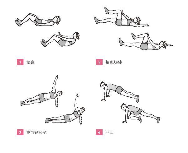 50組在家徒手健身腹腿臀計畫_腹部訓練