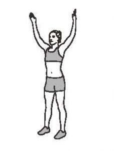 50組在家徒手健身腹腿臀計畫_雙手畫圓